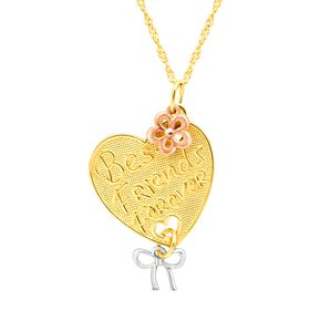 Best Friends Forever Heart Charm Pendant