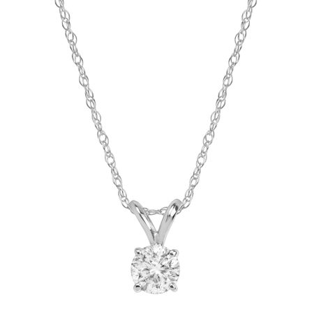 1/2 ct Round-Cut Diamond Solitaire Pendant