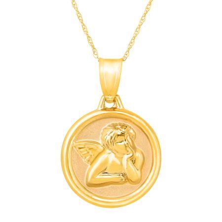 Eternity gold guardian angel prayer pendant in 14k gold guardian guardian angel prayer pendant aloadofball Choice Image