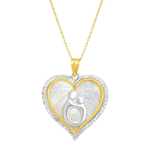 Mother child natural mother of pearl heart pendant in 10k gold mother child natural mother of pearl heart pendant in 10k gold mother child mother of pearl heart pendant jewelry aloadofball Image collections
