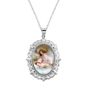 Mother-of-Pearl Guardian Angel Pendant