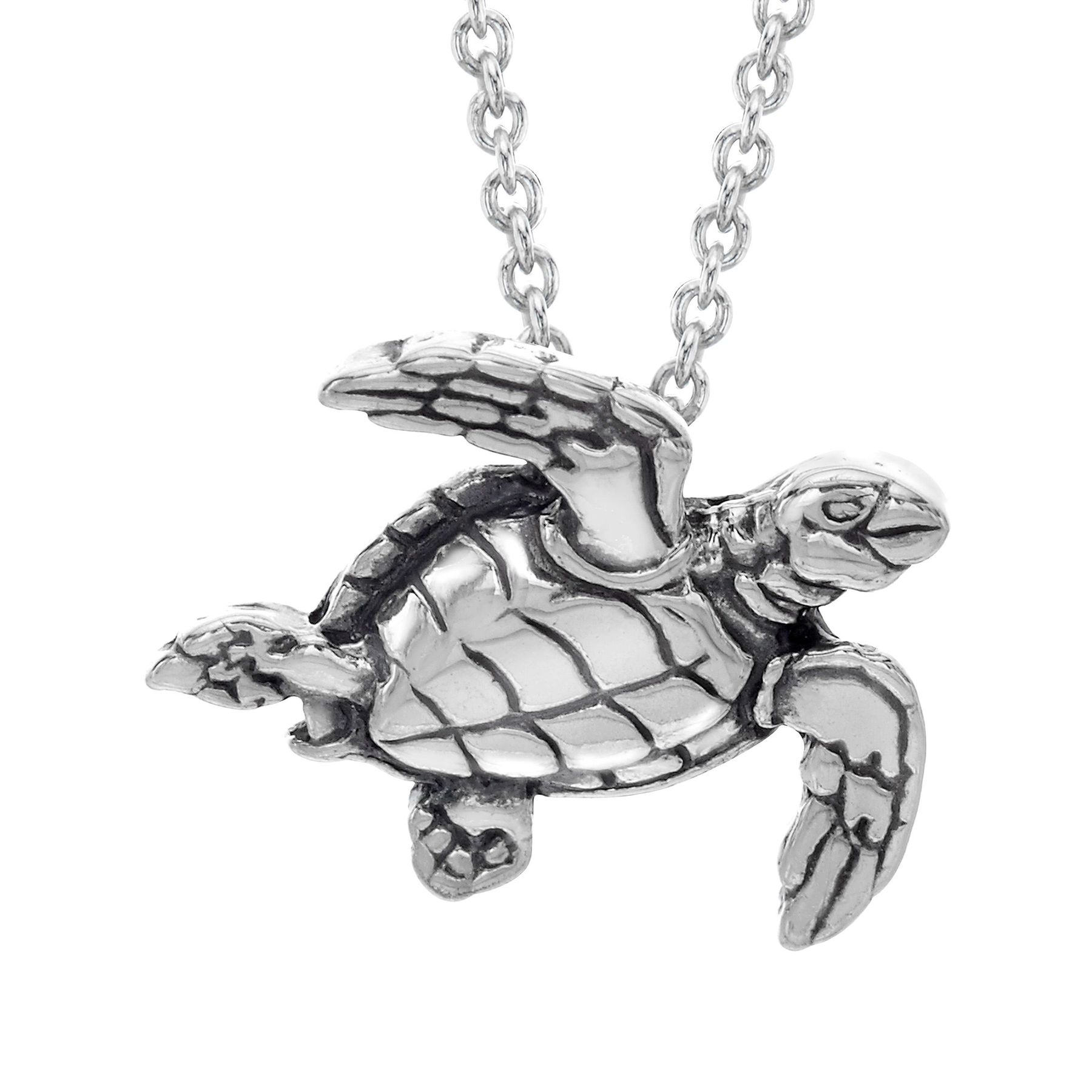 Kabana small sea turtle pendant in sterling silver small sea small sea turtle pendant mozeypictures Images
