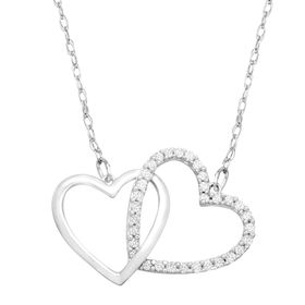 1/4 ct Diamond Linking Heart Necklace