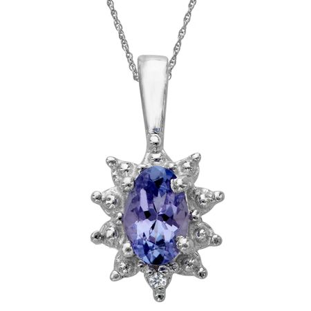 3/8 ct Tanzanite Pendant with Diamond