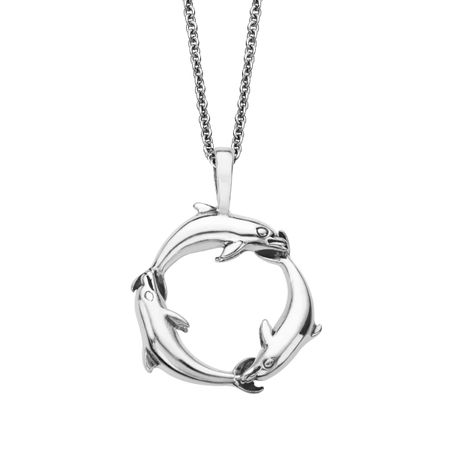 Kabana dolphin pendant in sterling silver dolphin circle pendant dolphin circle pendant aloadofball Gallery