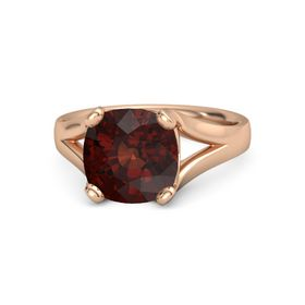 Cushion Red Garnet 14K Rose Gold Ring