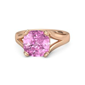 Cushion Pink Sapphire 14K Rose Gold Ring