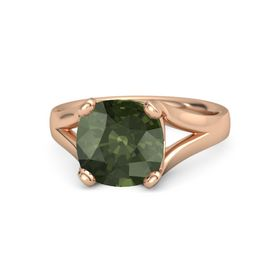 Cushion Green Tourmaline 14K Rose Gold Ring