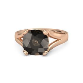 Cushion Smoky Quartz 14K Rose Gold Ring