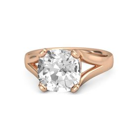 Cushion Rock Crystal 18K Rose Gold Ring