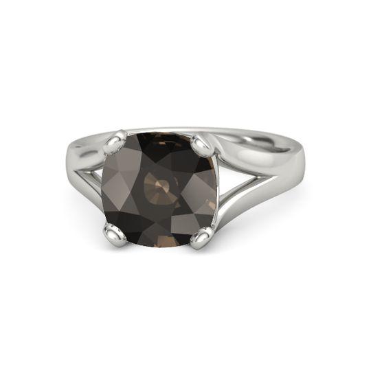 white gold smoky quartz new stone sale iolite engagement rings gemvara - Wedding Rings For Sale