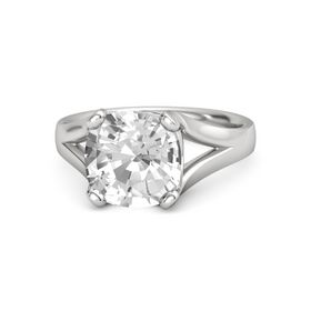 Cushion Rock Crystal Sterling Silver Ring