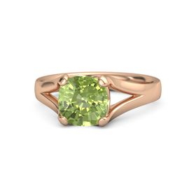 Cushion Peridot 14K Rose Gold Ring
