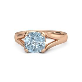 Cushion Aquamarine 14K Rose Gold Ring