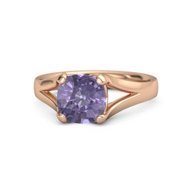 Cushion Iolite 14K Rose Gold Ring