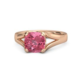 Cushion Pink Tourmaline 14K Rose Gold Ring