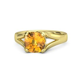 Cushion Citrine 14K Yellow Gold Ring
