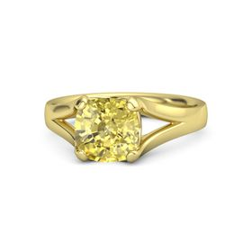 Cushion Yellow Sapphire 14K Yellow Gold Ring