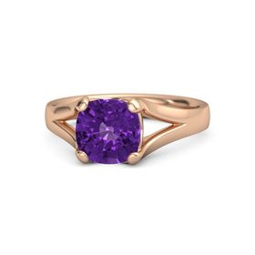 Cushion Amethyst 18K Rose Gold Ring