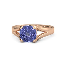 Cushion Tanzanite 18K Rose Gold Ring