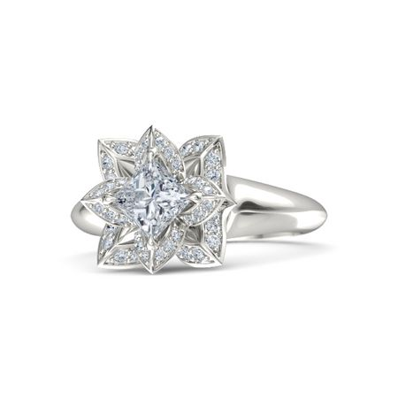 alliance with full in wedding engagement ring white carat diamond set en eternity diamonds princess gold