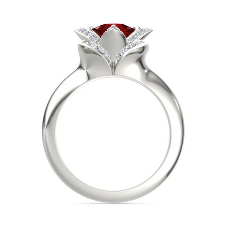 Cushion-Cut Lotus Ring