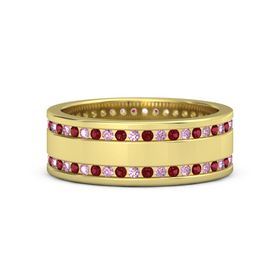 14K Yellow Gold Ring with Pink Sapphire & Ruby