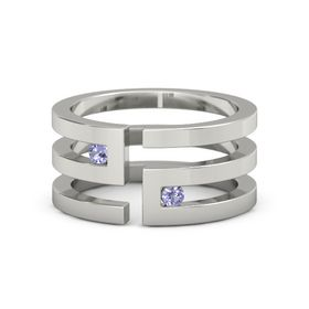 Palladium Ring with Tanzanite