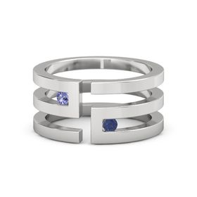 Sterling Silver Ring with Iolite & Sapphire