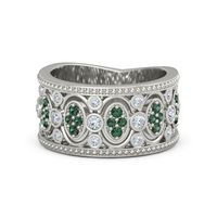 renaissance band - Vintage Style Wedding Rings