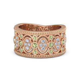 peridot art nouveau wedding rings peridot art nouveau wedding bands