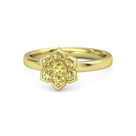 Round Yellow Sapphire 18K Yellow Gold Ring with Yellow Sapphire