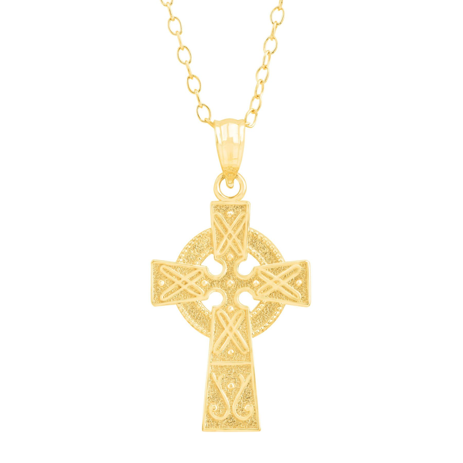 carat pendant celtic cross store irish the gold