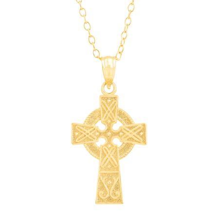 Eternity Gold Celtic Cross Pendant in 10K Gold Celtic Cross