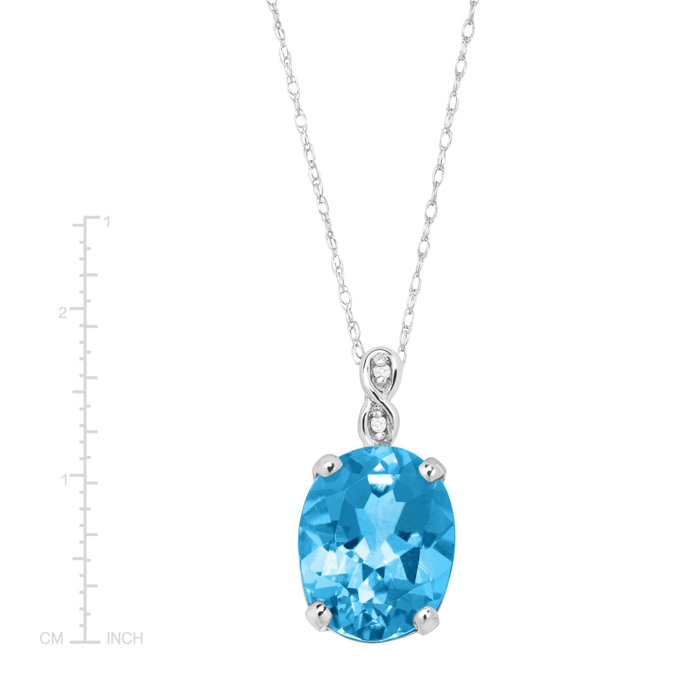 topaz gold in diamond necklace blue tw with white pendant halo