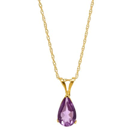 1/2 ct Amethyst Pear-Cut Solitaire Pendant