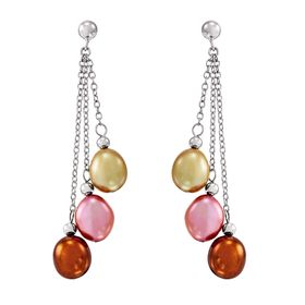 8-9 mm Gelato Baroque Pearl Chain Earrings