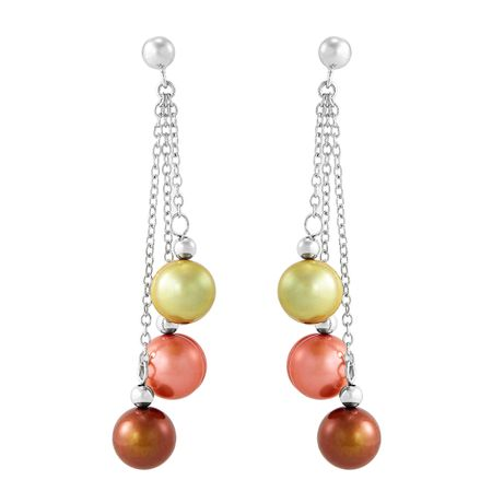 8-9 mm Gelato Ringed Pearl Chain Earrings