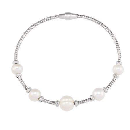 Five Pearl Station Bracelet