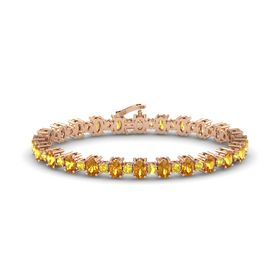 14K Rose Gold Bracelet with Citrine and Yellow Sapphire