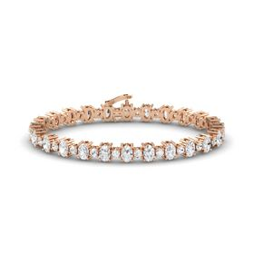 14K Rose Gold Bracelet with White Sapphire