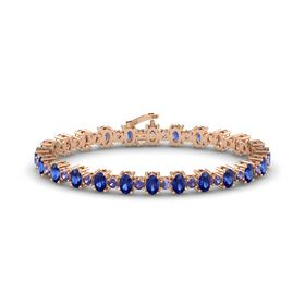 14K Rose Gold Bracelet with Blue Sapphire and Iolite