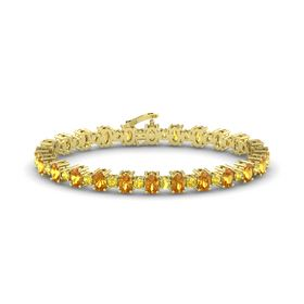 14K Yellow Gold Bracelet with Citrine and Yellow Sapphire