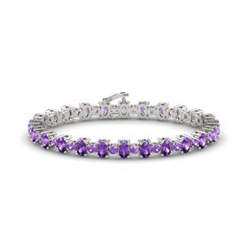 Platinum Bracelet with Amethyst