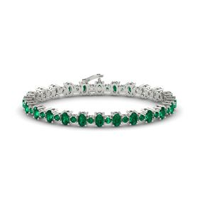 Platinum Bracelet with Emerald