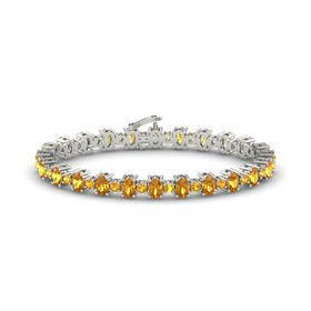 Platinum Bracelet with Citrine