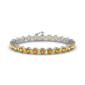 Platinum Bracelet with Citrine & Yellow Sapphire