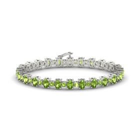 Platinum Bracelet with Peridot