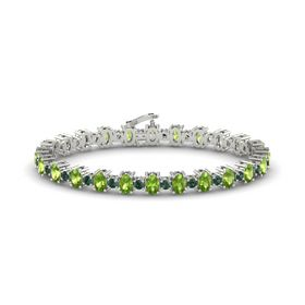 Platinum Bracelet with Peridot and Alexandrite