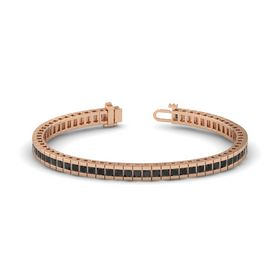 14K Rose Gold Bracelet with Black Diamond
